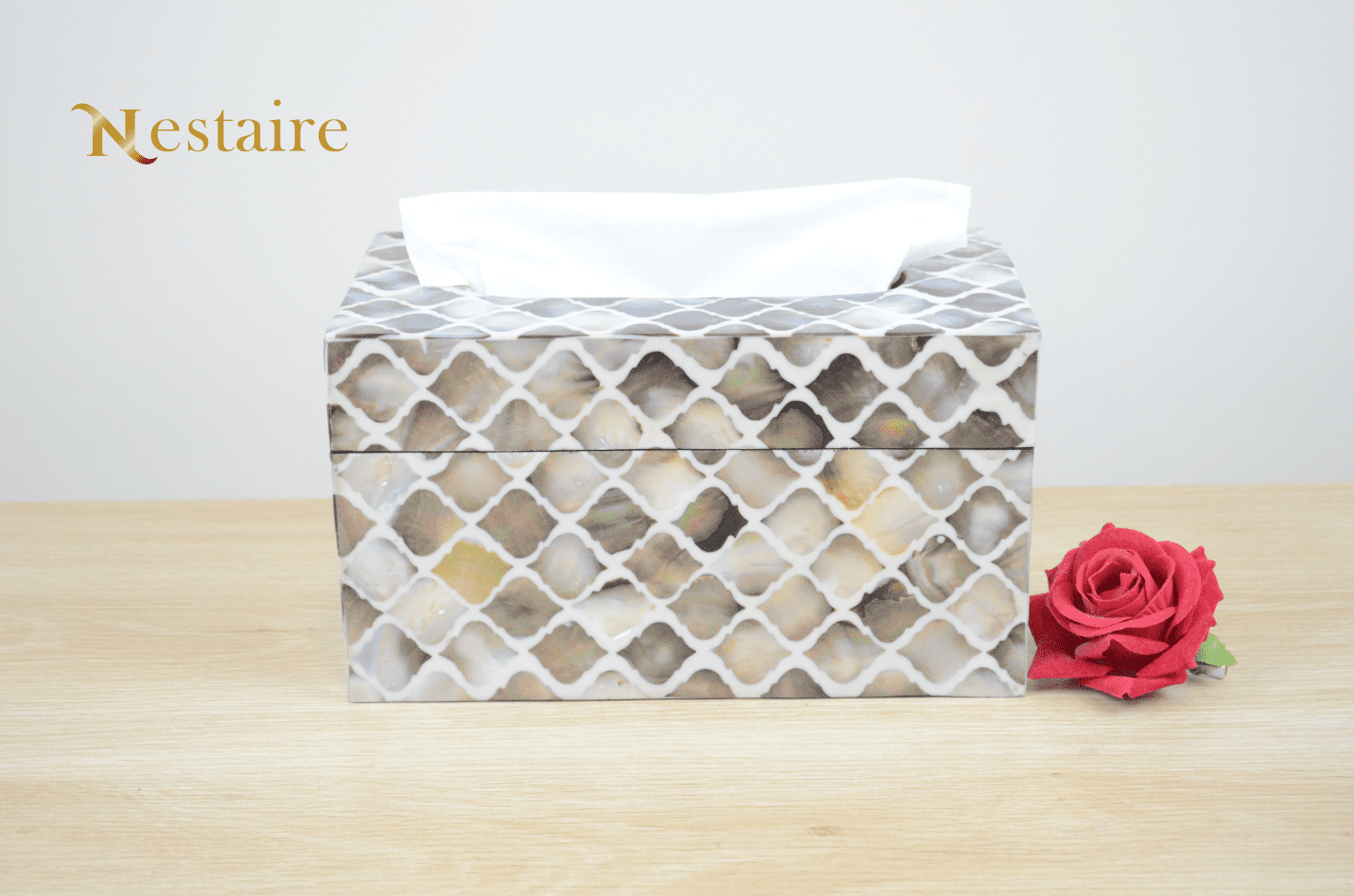 Pearl Tissue Boxes and Covers