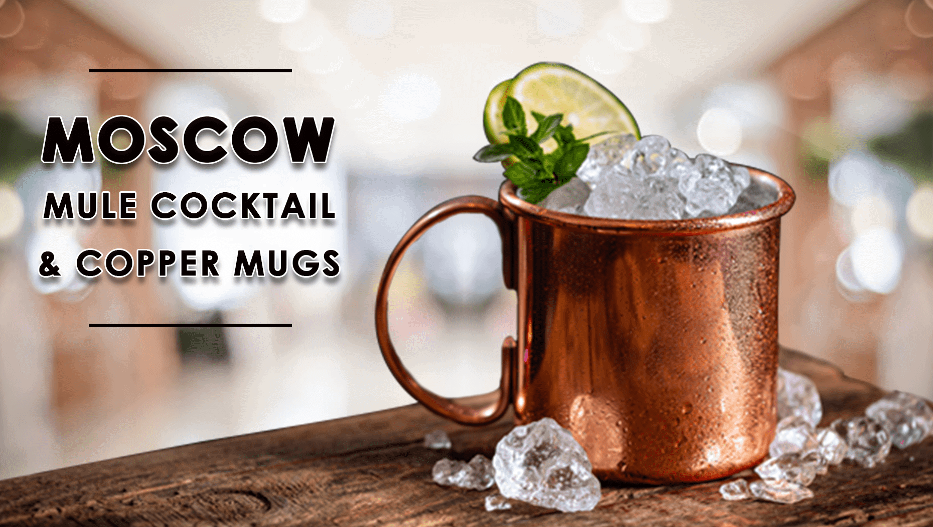 Moscow Mule Cocktail and Copper Mugs