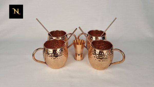 Buy Cocktail Mug Set - 4 Copper Mug Set