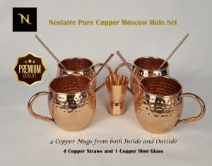 Buy Moscow Mule 4 Pure Copper Mug Set