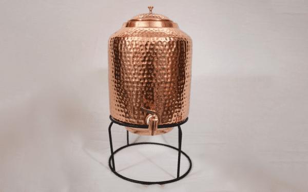 Copper Water Dispenser 5L Hammered